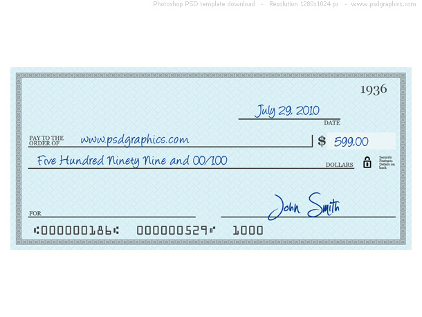 Blank cheques templates large autos post for Giant check template free