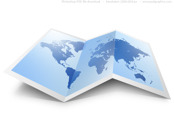 Psd world map icon psdgraphics format psd color theme blue red white keywords unfolded world map web graphic move the pushpin to america europe australia etc a great icon for gumiabroncs Image collections