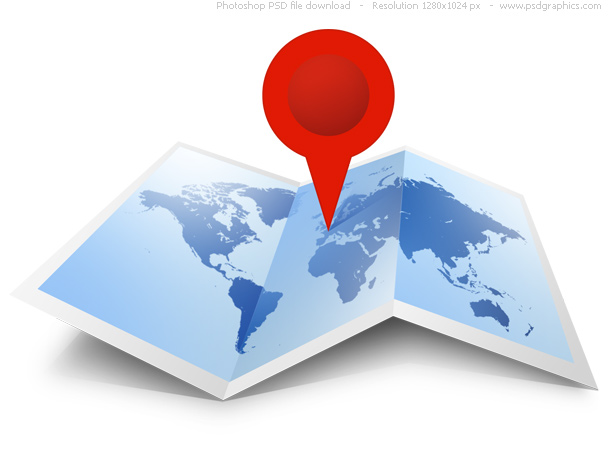 Psd world map icon psdgraphics world map icon format psd color theme blue red white keywords unfolded world map web graphic move the pushpin to gumiabroncs Image collections