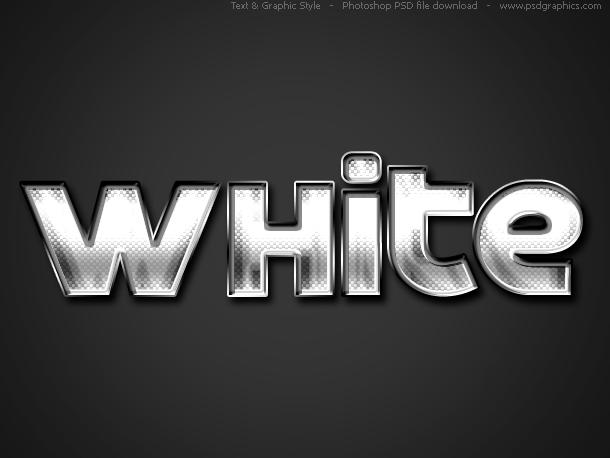 white text style