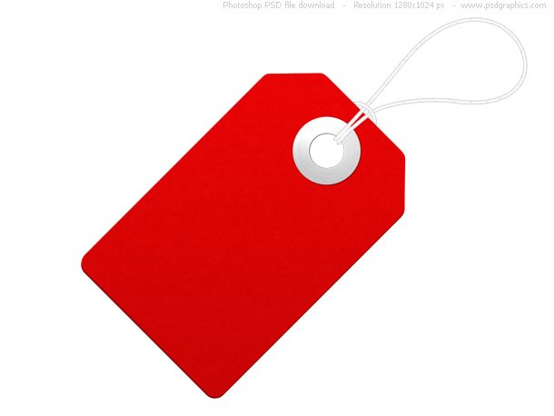 Blank Paper Label Red Price Tag  Psdgraphics