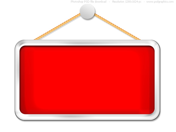 hanging red sign template psd psdgraphics