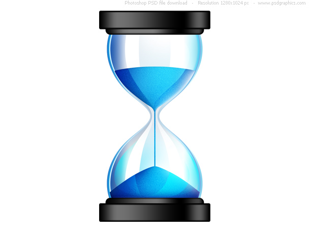 Sands Of Time PSD Hourglass Icon PSDGraphics