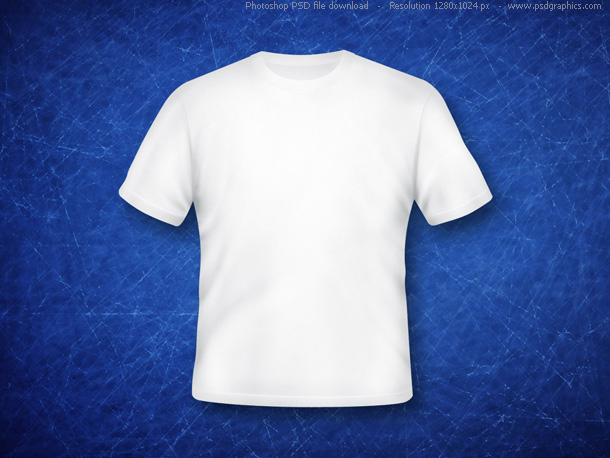 Blank white t shirt psd psdgraphics for Shirts with graphics on the back