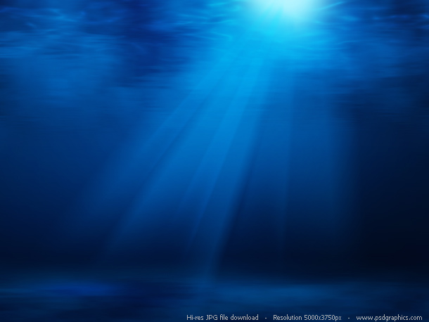 Beautiful underwater with sun shining through waves hi res background
