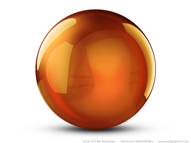 orange crystal ball
