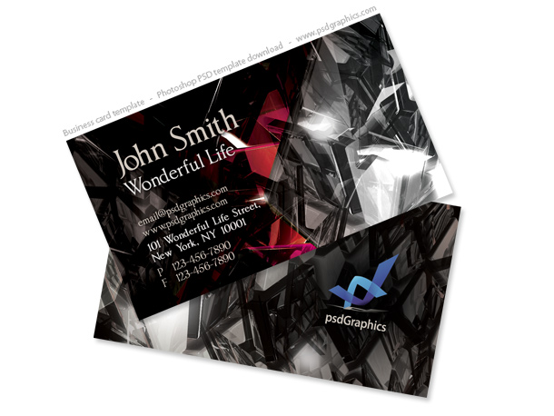 black business card two sided