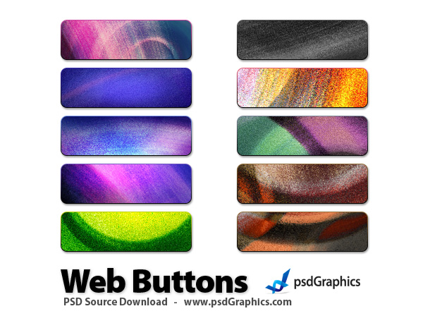 colorful grunge buttons