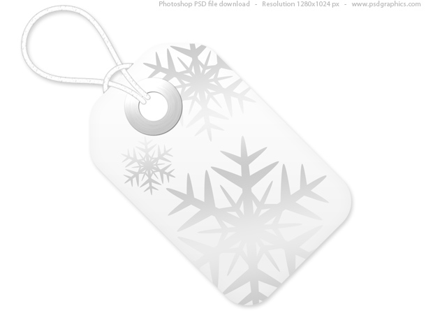 Red And White Christmas Tags, Psd Template | Psdgraphics