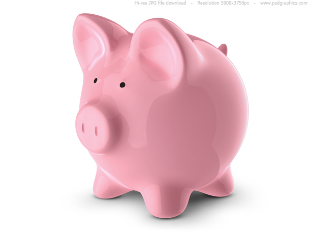 Pink piggy bank | PSDGraphics