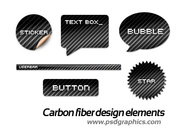carbon fiber design elements
