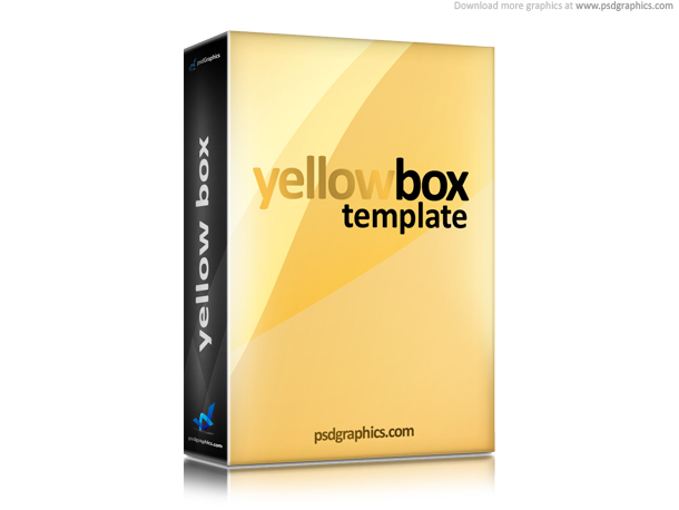 3d yellow box