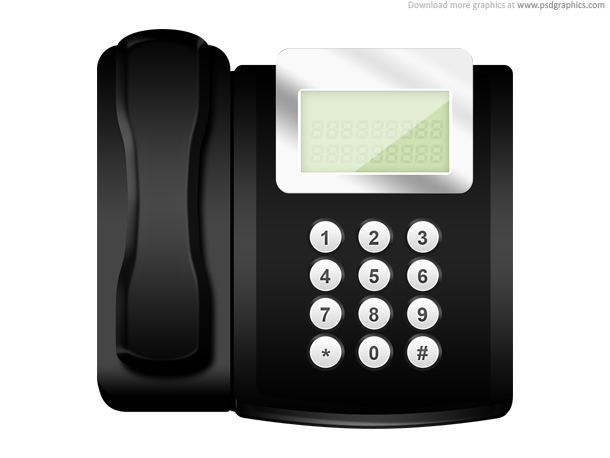 modern office telephone icon psd psdgraphics. Black Bedroom Furniture Sets. Home Design Ideas
