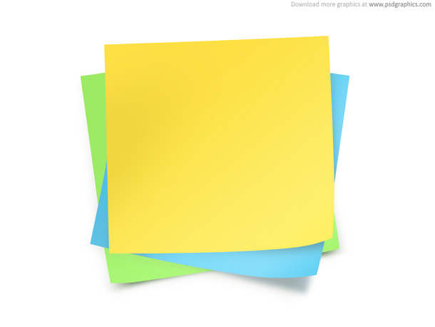 Paper Notes Template  Psdgraphics