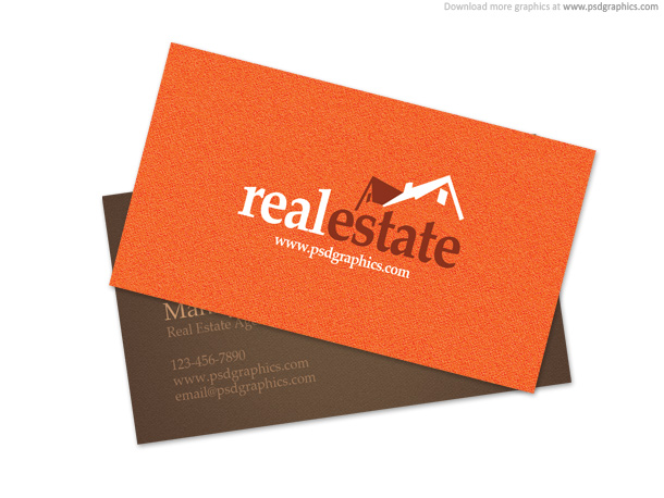 Real estate business card psdgraphics real estate business card flashek Image collections