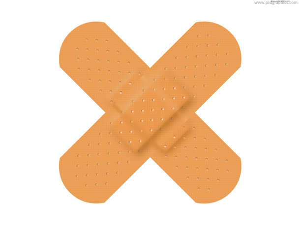 crossed adhesive plaster icon