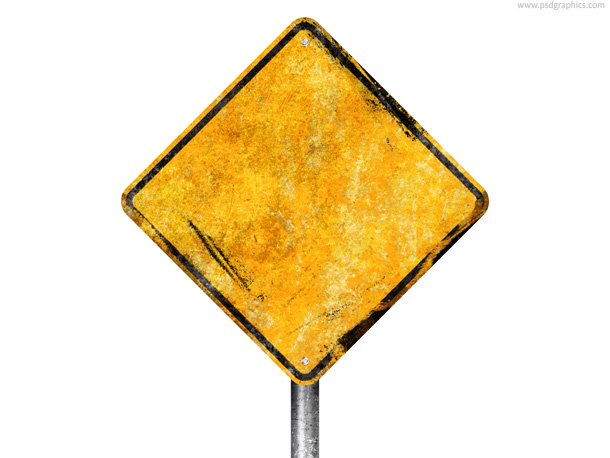 dirty street sign