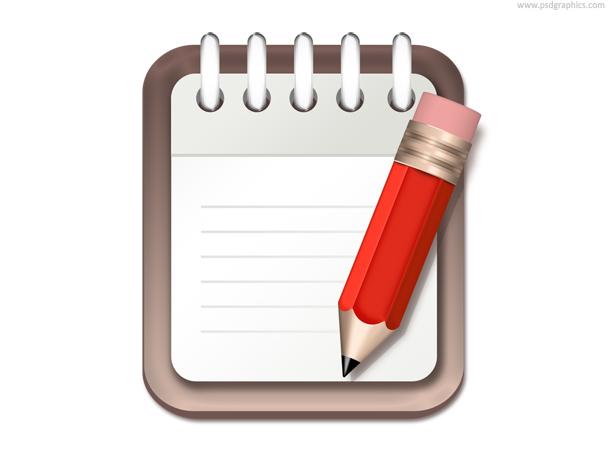 notepad pencil