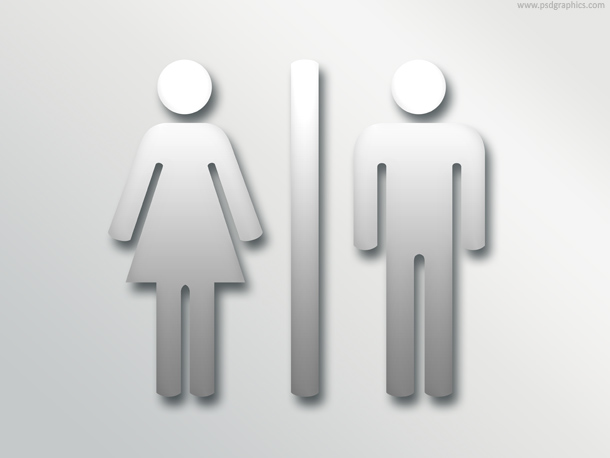restroom toilet sign