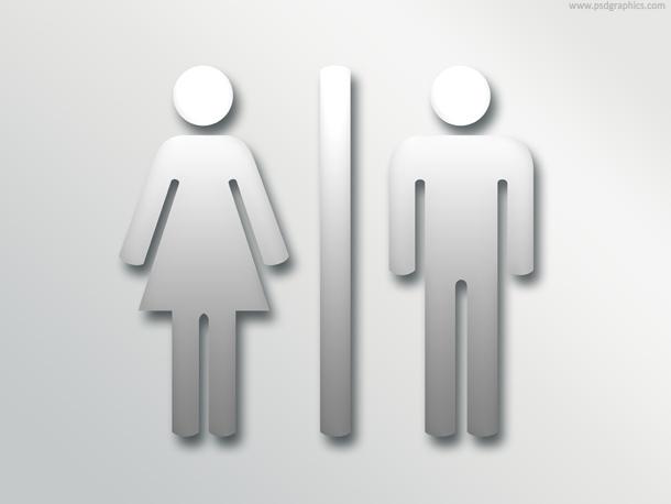 restroom toilet sign