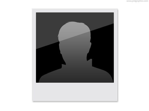 polaroid head silhouette