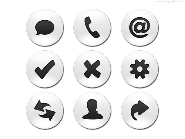 business web buttons template