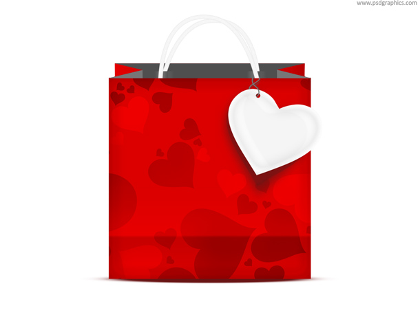 valentines shopping bag