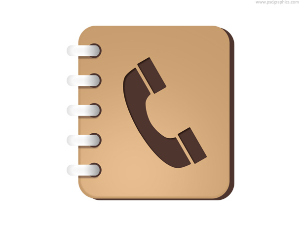 Phone book icon psd psdgraphics for Designer directory