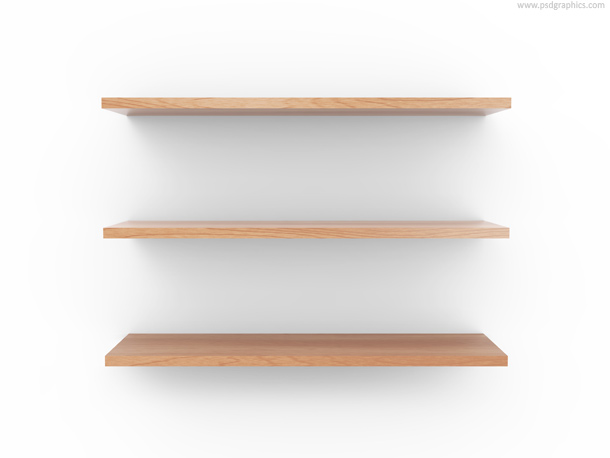 Empty wooden shelf | PSDGraphics