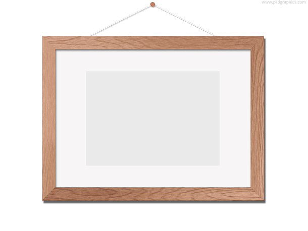 Wooden photo frame template psd psdgraphics for Picture frame templates for photoshop