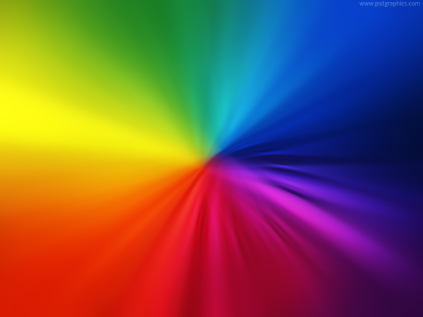Blurry rainbow colors, abstract spectrum background