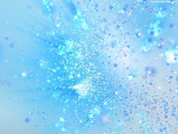 Blue magic dust and sparkles
