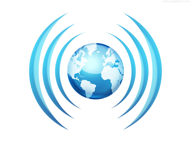 Worldwide broadcasting, communication icon