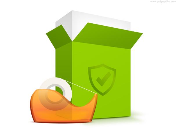 Shipping icon, safe shopping