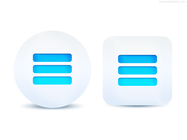 Menu button, more options
