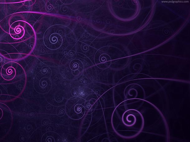 Purple spirals
