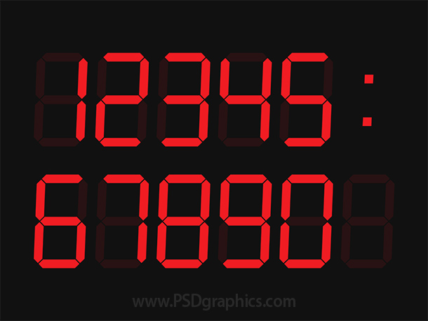 Digital clock PSD