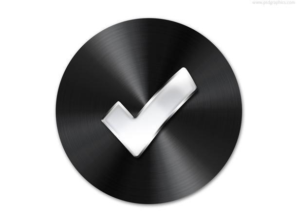 Black button template