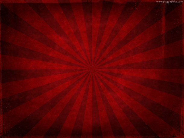 Red grunge sunburst