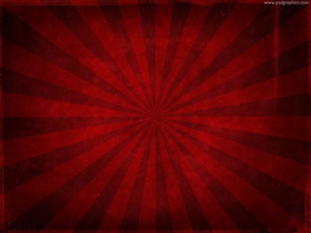 Red grunge sunburst