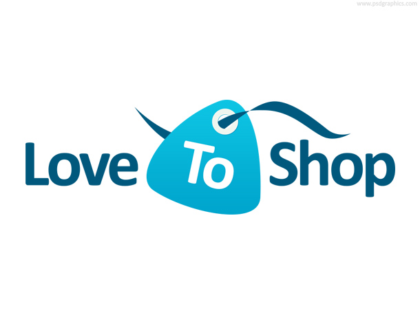 Shopping tag logo