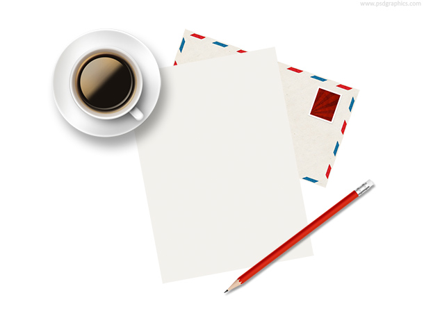 Coffee paper pencil envelope