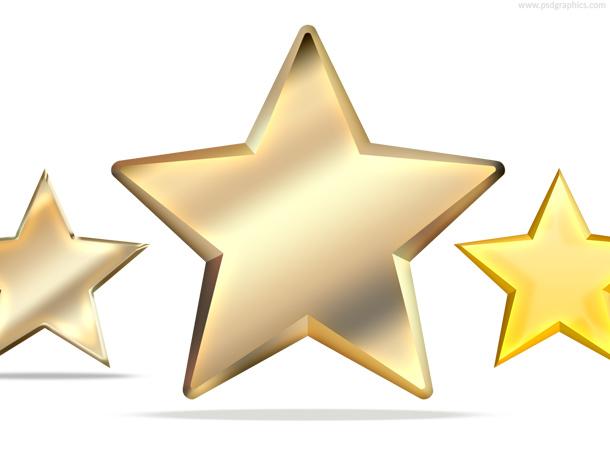Yellow stars icons