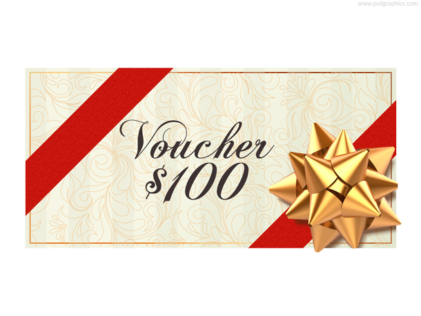 Christmas Voucher Template Psd  Psdgraphics