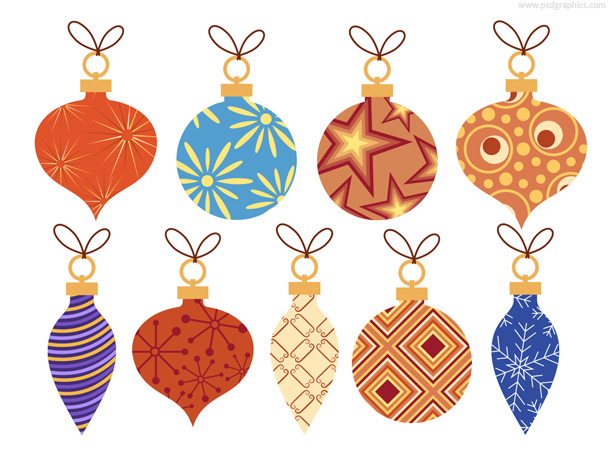 Christmas baubles decoration