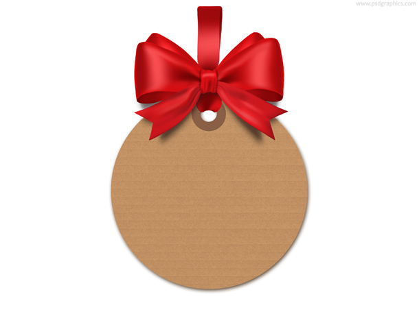 gift tag template psd