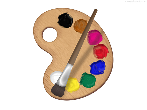 Painters Palette Icon PSD
