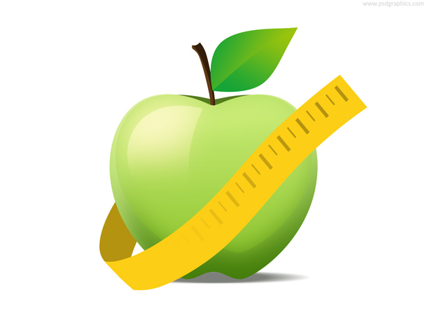 Apple diet icon
