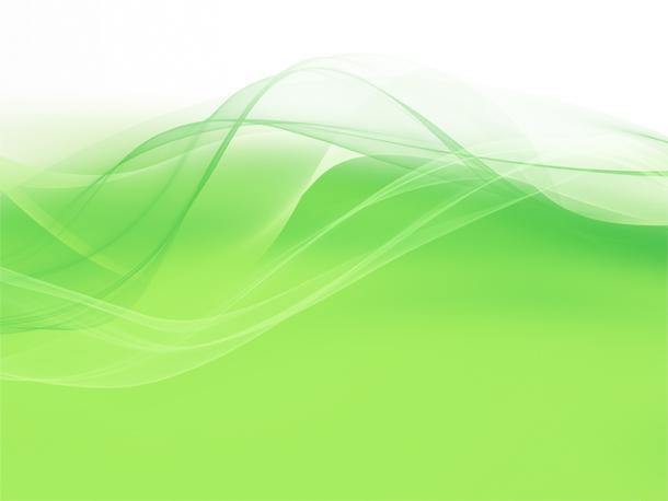 Green wavy design