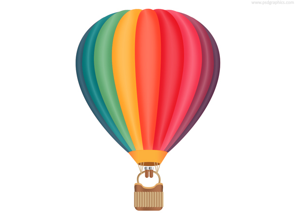 Hot air balloon PSD
